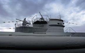 Картинка подводная лодка, немецкая, типа, времён, Второй мировой войны, средняя, U-995, VIIC/41