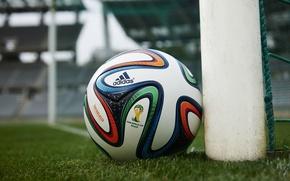 Картинка Мяч, Спорт, Футбол, Бразилия, Ball, Football, Стадион, Stadium, Brazil, Sport, Кубок, Brazuca, Бразука, World Cup …