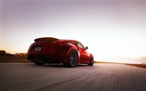 Картинка дорога, авто, скорость, Nissan, 370Z