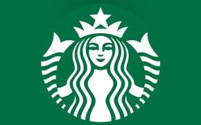 Картинка green, кофе, эмблема, logo, coffee, Starbucks