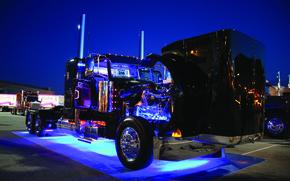 Картинка кабина, мотор, truck, peterbilt