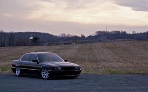 Картинка Черный, BMW, Бумер, БМВ, 740, Black, E38, Bimmer