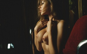 Обои грудь, взгляд, девушка, модель, Mavrin, Olga Alberti