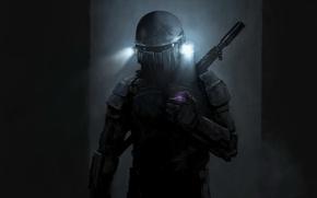 Картинка оружие, фонари, костюм, шлем, Jango Fett