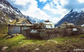 Картинка обои wot, т110е4, world of tanks обои, t110e4