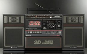 Картинка ретро, классика, магнитофон, Hitachi, TRK-9230E 3D9