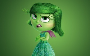 Картинка flowers, 2015, Walt Disney Studios Motion Pictures, Disgust, adventure, five emotions, dress, face, girl, hana, ...