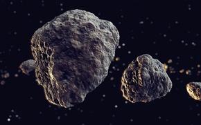 Картинка space, universe, rocks, meteors