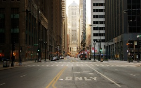 Картинка небо, здания, небоскребы, USA, америка, чикаго, Chicago, сша, высотки, center, illinois