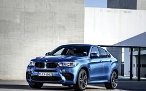 Картинка фото, BMW, Голубой, Автомобиль, 2015, X6 M, Металлик