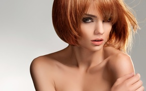 Обои девушка, модель, стрижка, волосы