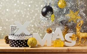 Картинка украшения, шары, елка, Новый Год, Рождество, Christmas, balls, decoration, Merry