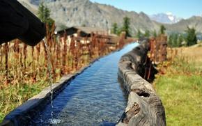 Картинка вода, горы, ручей