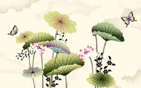 Картинка бабочки, природа, арт