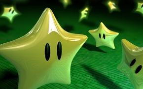 Обои настроение, звезды, зеленое