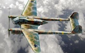 Картинка aircraft, war, airplane, aviation, ww2, dogfight, german aircraft