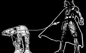 Обои Дарт Вейдер, Star wars, Звездные воины, AT-AT