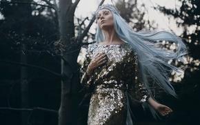 Картинка лес, девушка, волосы, Bella Kotak