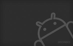 Картинка серый, робот, android