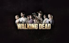 Картинка фон, надпись, зомби, zombie, сериал, serial, Andrea, The Walking Dead, Amy, Ходячие мертвецы, Rick, Shane, …