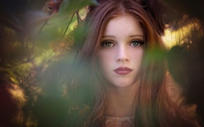 Картинка портрет, девочка, Autumn Goddess