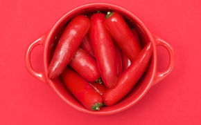 Обои перец острый, Red cubed, чашка