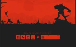 Картинка игра, монстр, evolve, охотник, poster, Turtle Rock Studios