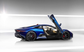 Картинка авто, ягуар, supercar, auto wallpaper, Jaguar C-X75