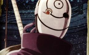 Картинка маска, воротник, Naruto, рукоятка, sharingan, ninja, Akatsuki, Tobi, Obito Uchiha