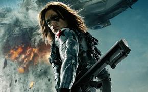 Картинка Marvel, Soldier, 2014, Captain America The Winter Soldier, Sebastian Stan