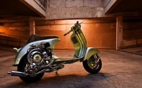 Картинка фон, мотоцикл, vespa