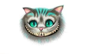 Картинка морда, улыбка, алиса в стране чудес, Чеширский Кот, Cheshire Cat, Alice's Adventures in Wonderland