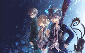 Картинка девушка, аниме, арт, парни, братья, Ao no Exorcist, Rin Okumura, Синий экзорцист, Рин, Blue Exorcist, …