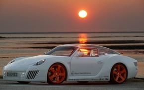 Обои zaZen, тюнинг, Rinspeed, car, авто, Concept, закат
