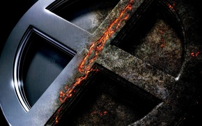 Картинка cinema, wallpaper, fire, flame, logo, X-Men, power, Marvel, movie, film, Marvel Comics, shield, rust, sugoi, …