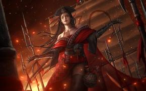 Картинка девушка, платье, арт, злодей, Swordsman, Dong Fang Bu Bai
