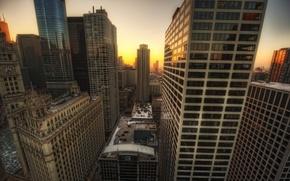Картинка город, Чикаго, USA, США, Chicago, illinois, Иллиноис, TribuneTower