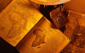 Картинка old, paper, books, africa continent