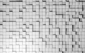 Картинка стена, текстура, квадраты, рендер, hq wallpaper