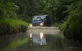 Картинка джип, внедорожник, Land Rover, передок, Defender, Ленд Ровер, Дефендер