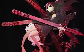 Картинка зомби, нежить, Shiki, Усопшие, Sunako Kirishiki, art Ryu Fujisaki, колья