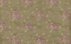 Картинка pattern, vintage, floral, фон, розы, texture, paper, орнамент, wallpaper, цветочный