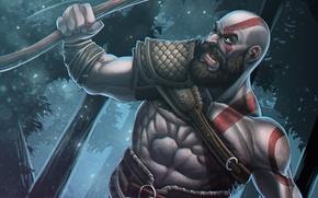 Картинка Воин, Sony, Kratos, Кратос, God Of War, 2017, Спартанец