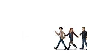 Картинка девушка, арт, белый фон, Doctor Who, мужчины, Доктор Кто, Одиннадцатый Доктор, Amy Pond, Эми Понд, …
