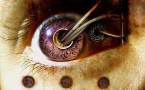 Обои Глаз, Провода, Биомеханика