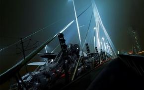 Обои 3-D, обработка, мост