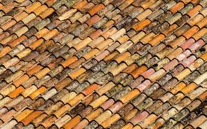 Картинка крыша, краски, черепица, кровля