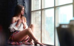 Картинка стиль, боке, Дмитрий Беляев, окно, Модель, фото, Настя