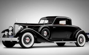 Картинка ретро, чёрный, Rolls Royce, автомобиль