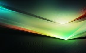 Обои зеленый, черный, spectrum, digital illustration